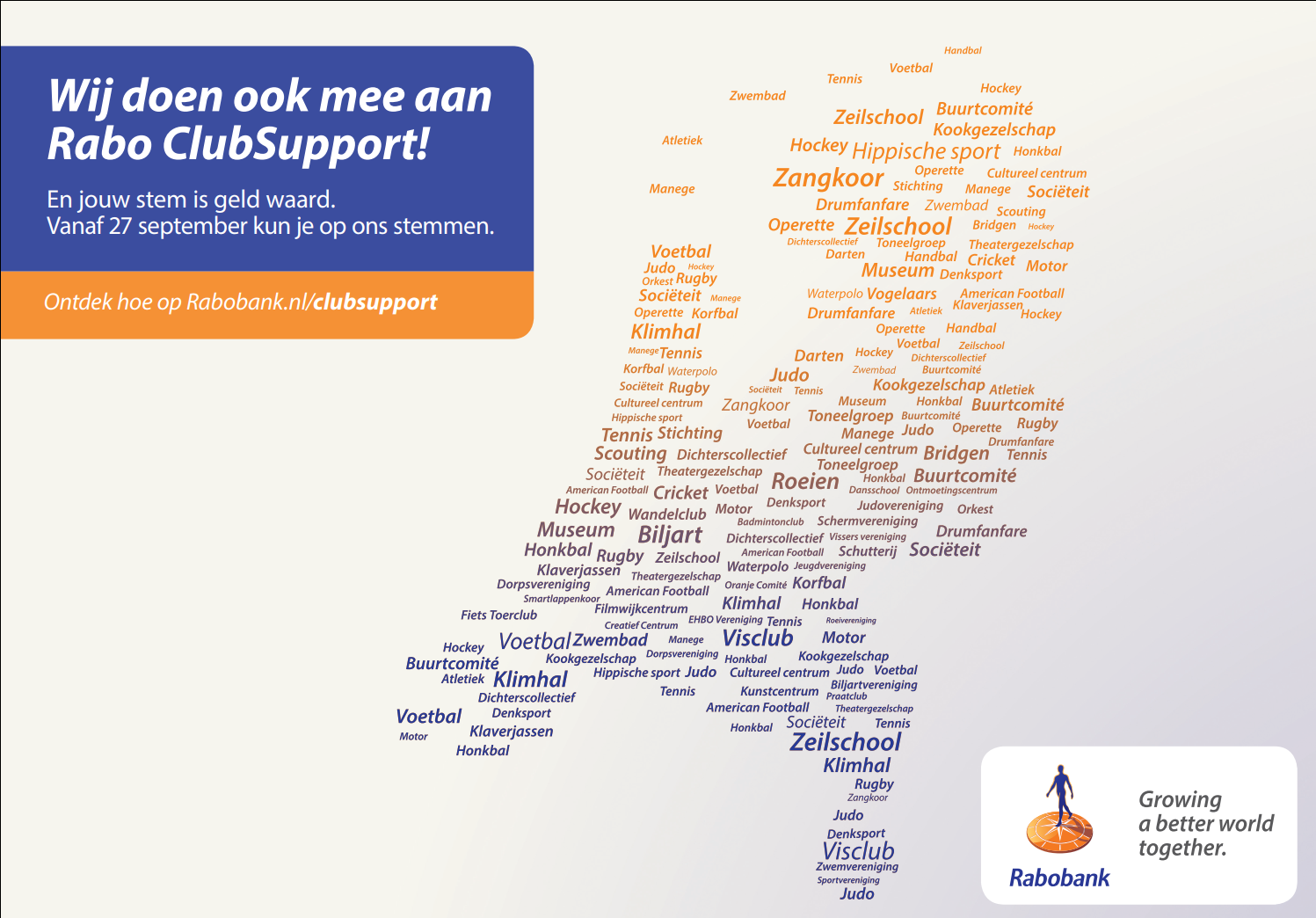 Poster Rabo Clubsupport 2019