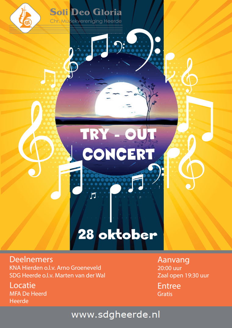 Try-out concert 28-10-2019
